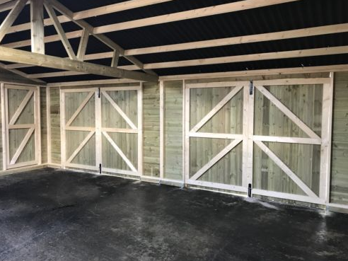 Heavy Duty Redwood Garage Doors Pair 4ft X 7ft The Shed Box