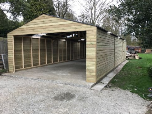 Redwood Heavy Duty Timber Garage Workshop 16 7ft X 24ft